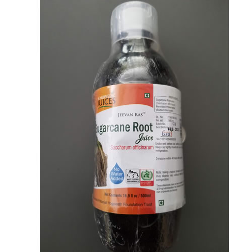Sugarcane Root Juice 500ml  Ayurvedic Juices