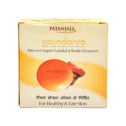 Patanjali Saundarya Mysore Super Sandal Soap Kitchen / Personal Care
